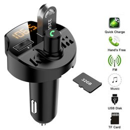 $enCountryForm.capitalKeyWord Australia - BT5.0 Car Kit MP3 Player FM Transmitter With USB Charger Handsfree Support TF One-button to activate the high quality sound #P10