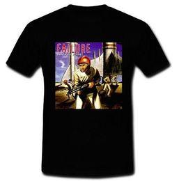 FALHA Fantastic Planet Post Grunge Buraco mudhony T-shirt Preta S M L XL 2XL 3XL em Promoção