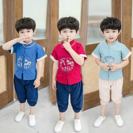 $enCountryForm.capitalKeyWord Australia - Boy baby Hanfu 2019 newTang suit Chinese antiquity retro kids wear fashion boutique clothing sexy design infant clothing toddler garments