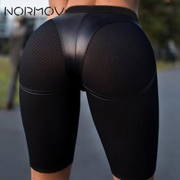 port mix 2019 - NORMOV Sexy Yoga Shorts Push Up Gym Wear Ladies Fitness port Shorts For Women Tight Short Workout Leggings High Waist Le