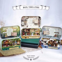 $enCountryForm.capitalKeyWord Australia - 8 Kinds Box Theatre Doll House Wooden Diy Miniature Dollhouse Countryside Notes 3d Puzzle Gift Birthday Toys For Children Kits Y19070503