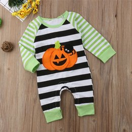 Winter rompers for toddler girls online shopping - Newest Spring Fall INS Toddler Baby Boys Girls Hoodies Rompers Hooded Jumpsuits Cotton Stripes Newborn Onesies for T