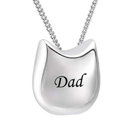 $enCountryForm.capitalKeyWord NZ - Cremation Jewelry - Cat Necklace Memorial Neckalce Pendant- Urn Necklace for Ahes for Pet's Ashes Free Fill Kit For Women Men(silver)