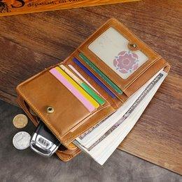 2019 Hombres billetera Billeteras estándar Carteras Cuero de vaca suave Hombres billetero Monedero cero Carteras pequeñas Bolso de la tarjeta Venta al por mayor Corto cuero genuino TP-175