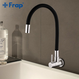 Water Faucet Kitchen Australia - Frap Wall Mounted Kitchen Faucet 304 Stainless Steel Single Handle Single Hole Water mixer Cold Water Mixer Tap Y40099
