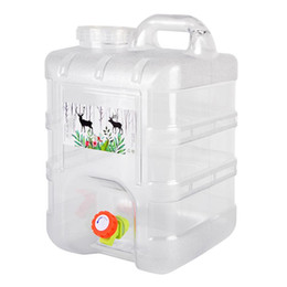 $enCountryForm.capitalKeyWord Australia - 15L Camping Drinking Water Bag Portable Plastic Bucket Box With Lid Faucet Container Storage For Self-driving Tour Travel Pack