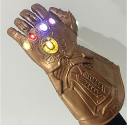 $enCountryForm.capitalKeyWord Australia - LED The Avengers Thanos Infinity Gauntlet Gloves Cosplay Props Party Latex Avengers: Infinity War Gloves XMAS Costume Gift