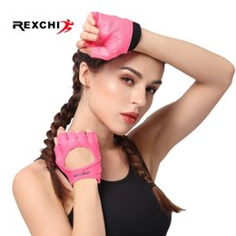Discount crossfit fitness equipment - REXCHI Half Finger Yoga Gloves for Women Breathable Gym Fitness Glove Support Crossfit Workout Power Weight Lifting Equi