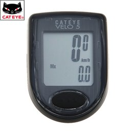 Wired Speedometer Australia - CATEYE Bicycle Cycling Wired Stopwatch LCD Computer Odometer VELO5 CC-VL510 Speedometer Waterproof With 5 Functions Black
