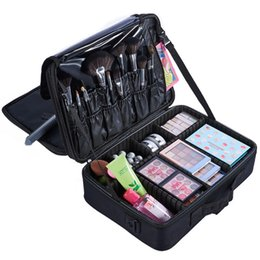 Professional Makeup Artist Cosmetic Bag Australia - AIBKHK Brand Makeup Artist Professional Beauty Cosmetic Cases with Make Up Box Tattoo Nail Multilayer Toolbox Storage Bag Hot