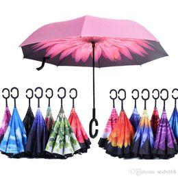 $enCountryForm.capitalKeyWord Australia - Reverse Folding Umbrella Windproof Sunny Rainy Umbrella Double Layer Inverted Self Stand Rain Protection Umbrella C-Hook Hand HH7-946