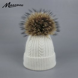 branded beanies Australia - New Pom Poms Women Winter Hats Casual Beanies Fashion Crochet Knitting Hat Brand Thick Female Cap Hat Bone feminino