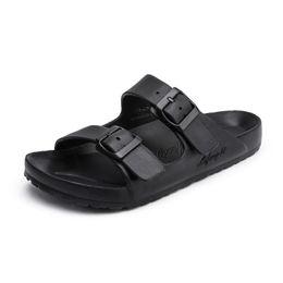 0d7d1ea1f3f0 KLYWOO Plus Size 36-47 Men Sandals Fashion Men Slipper Summer Unisex Beach  Shoes Buckle Open Toe Slides Slippers Sandalias Hombre