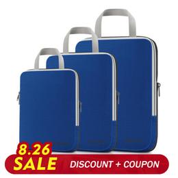 Packing cubes online shopping - Gonex set Travel Storage Bag Suitcase Luggage Organizer Hanging Ziplock Clothing Compression Packing Cubes Boy Friend Gift