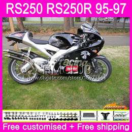 fairing rsv Canada - Bodywork For Aprilia RS-250 RSV250 RS250 95 96 97 body Glossy black 41HM.13 RSV250RR RS250R 95-97 RSV 250 RR RS 250 1995 1996 1997 Fairing