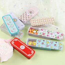 $enCountryForm.capitalKeyWord Australia - Mini Rectangular Slide Cover Iron Box Candy Storage Box Wedding Jewelry Cases Portable Tin Container