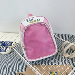 Cute Backpacks For Teenage Girls Australia - Cute Women Backpack Transparent Candy Jelly Student Schoolbags Fashion Backpacks For Teenage Girls Back Pack
