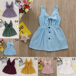 sash military NZ - Pudcoco 2019 Summer Solid Toddler Baby Girl Sleeveless Fashion Dresses Sunsuit Outfits Casual Clothing Sundress Dropshipping C23