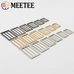 $enCountryForm.capitalKeyWord NZ - Meetee 25-50mm Metal Adjustable Buckles For Handbags Webbing Strap Rings Slider Buckle DIY Luggage hardware Accessories