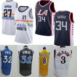 42b30839f Clippers 3 Allen Iverson Jersey 24 Kobe Bryant 27 Murray Jazz 23 Geiffin 32  Shaquille Oneal 33 Kareem Abdul Jabbar 32 Magic Johnson Basketb