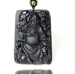 $enCountryForm.capitalKeyWord Australia - Beautiful handmade work chinese carved black book GuanGong lucky amulet pendant necklace fashion jewelry