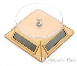 $enCountryForm.capitalKeyWord Australia - Jewelry Dispaly platform Exhibition Stand Solar Auto Rotating Display Stand Rotary Turn Table Plate For mobile MP4 Watch jewelry VIP Store