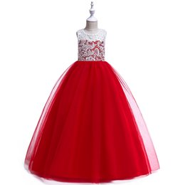 $enCountryForm.capitalKeyWord Australia - Girls Dress Kids Pageant Flower Princess Party Dresses Nail bead Embroider Costume Beauty dress Stage performance Rose Longuette 345678910
