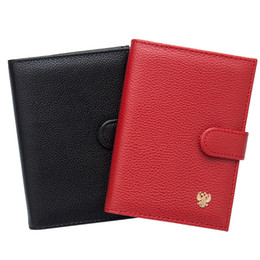 $enCountryForm.capitalKeyWord Australia - New Arrival 2 In 1 Russian Auto Driver License Bag Pu Leather Cover Car Driving Document Card Passport Holder Purse Wallet Case J190702