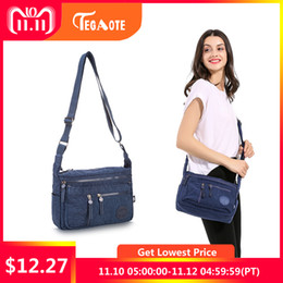 e2ba897bbfcc 2019 Fashion TEGAOTE Fashion Multi Zipper Pocket Women Small Mini Shoulder  Messenger Crossbody Bag Ladies Satchel Handbag Cellphone Pouch