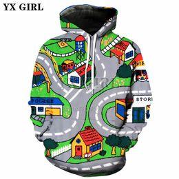 $enCountryForm.capitalKeyWord Australia - YX GIRL Drop shipping 2018 New Fashion Mens 3d hoodies Toy Roads Printed Hoodie Men Women Casual Hoody Sweatshirts TZ-52