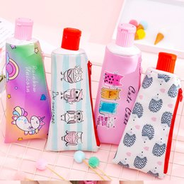 $enCountryForm.capitalKeyWord Australia - BECODE Creative tooth type pencil Case Cartoon with pencil sharpener stationery bag Cute Student large Capacity Storage Supplies