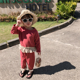 $enCountryForm.capitalKeyWord NZ - 2019 Spring New Arrival korean style cotton clothing sets T-shirt with pant matching color fashion suit for cute sweet baby girl