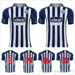 Chinese  Thailand's latest West Brom West Brown2019-2020 West Bromwich football jersey Albion home #16 Gayle #19 Rodriguez #10 Phillips #8 Liver manufacturers