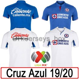 1c7d9378432 2019 2020 mexico club cruz azul jerseys 19 20 home blue away white soccer  jersey MONTOYA MARCONE CARAGLIO MENDEZ football shirts uniform