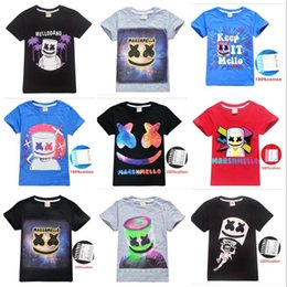 d6e2b4c47 New Marshmello DJ Kids T-shirts 38 styles boys girls Marshmello T Shirt DJ  Music Children Summer Casual T-shirt 100% Cotton