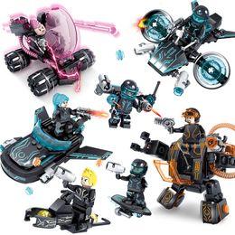 Build Toy Car Australia - Future Police X-Agents Armor Car Model Mech Robot Building Blocks educational Toys for children 4sets lot
