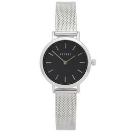 Wrist Watch Glass Chain Australia - FEYERT 2019 Trendy Women's Office Lady Fashion Silver Case Quartz Stainless Steel Mesh Chain Strap Wrist Watch FE-0003