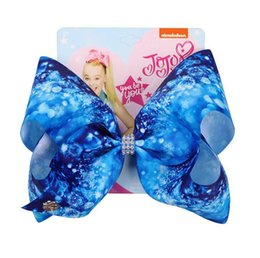 $enCountryForm.capitalKeyWord Australia - Jojo Siwa Hair Bow Children's 8 INCH Snowflake bow hairpin on Valentine's Day in Europe and America in 2019