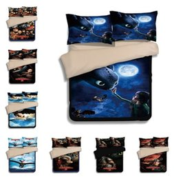 Dragon Home Australia - How To Train Your Dragon Duvet Cover Set 3PC Of Quilt Cover & Pillowcase Twin Full Queen King 7 Designs Fashion Bedding Sets