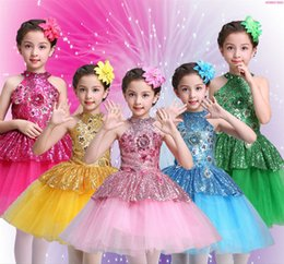 Wholesale gymnastic costumes for sale - Group buy Ballet Tutu Dress Girls Gymnastics Leotard Dancewear Ballet Clothes Children Ballerina Costume Discount Tutus