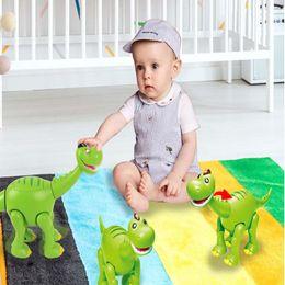 Discount toy walking dinosaurs - Cartoon Brontosaurus Electric Dinosaur Lighting Sounds Open Mouth Dinosaur Children's Educational Toys Automatic Wa
