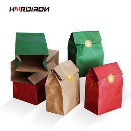 $enCountryForm.capitalKeyWord Australia - 10PCS Thickened Colored Kraft Paper Bag Fine Homemade Baking Bread Cake Gift Wrapping Bag