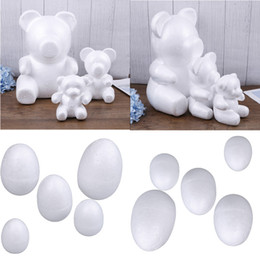 ChoColate eggs online shopping - 1 Modelling Polystyrene Styrofoam Foam Bear Egg White Craft Balls For DIY Christmas Party Decoration Supplies Gifts
