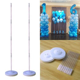 balloons columns Canada - Cyuan Birthday Balloon Column Kit Plastic Balloon Arch Stand with Base and Pole for Birthday Party Latex Ballons Holder Wedding