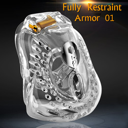 cock restraint devices UK - 2020 Newest Design Male Fully Restraint Bowl Chastity Device Comfortable 24h Light Wear Cock Cage Penis Ring Sissy Bondage Sex Toys ARMOR 01