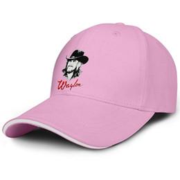 Cartoon Baseballs Australia - Vintage Men Women visor cap Waylon Jennings Cartoon Design custom baseball hats tructured hats 100% Cotton