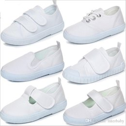 casual sneaker sole Australia - Baby Shoes Kids Canvas Shoes White Casual Loafers Child Summer Flat Shoe Sneakers Soft Sole Sport Chaussures Boy Fashion Indoor Shoes B4616