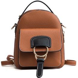 Cute Backpacks For Teenage Girls Australia - 2019 Women Fashion PU Leather Backpack children rucksack mini cute bagpack for teenage girls female Multi function shoulder bags