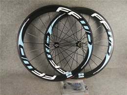 $enCountryForm.capitalKeyWord Australia - 700c 3K Glossy Light Blue logo FFWD F5R 50mm carbon road bike wheels with 23mm width Black Novatec A271 hubs free shipping