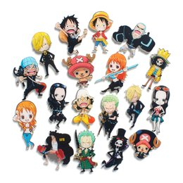 Creative cartoon animation One Piece refrigerator sticker, refrigerator decoration magnetic sticker, a variety of styles can be selected